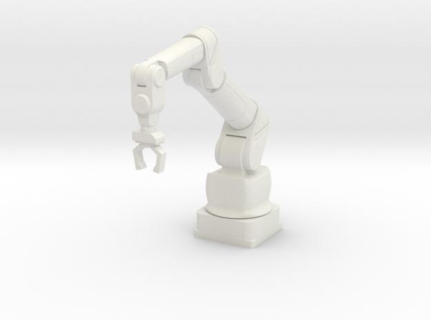 1:18 Scale Robotic Manipulator Arm NON-ARTICULATED in White Natural Versatile Plastic