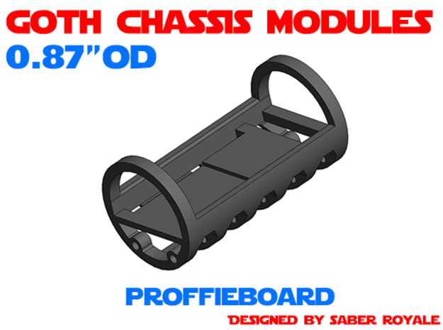 GCM087 - Proffieboard chassis in White Natural Versatile Plastic