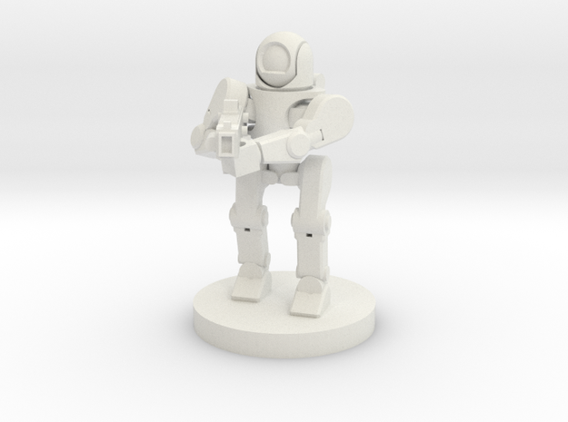 Rifle Sentry Robot (28mm Scale) in White Natural Versatile Plastic