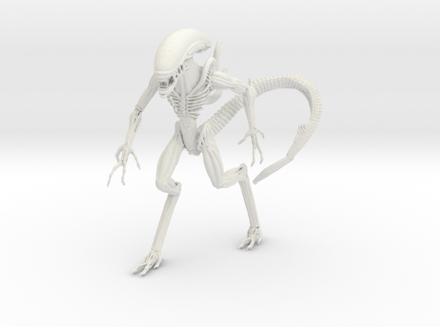 Alien in White Natural Versatile Plastic: Small