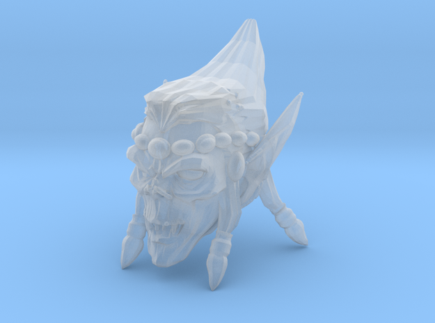 Interplanar villian head open mouth 1 in Smooth Fine Detail Plastic
