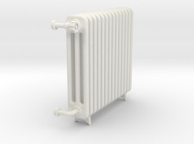 Radiator 14 Rippen m Fuss 1 zu 10 in White Natural Versatile Plastic