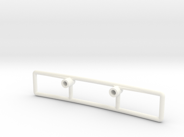 Willys Wheeler  Lancia Rally Bumper in White Processed Versatile Plastic