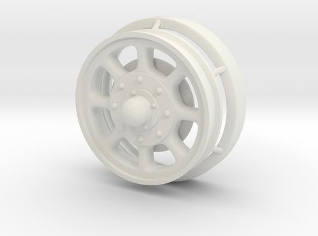 1/24 scale Giraffe Rear Wheel in White Natural Versatile Plastic