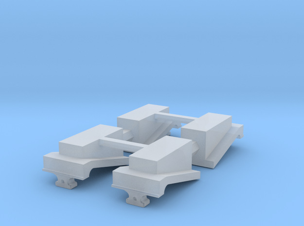 4 X EMD Jacking Pad in Smooth Fine Detail Plastic: 1:64 - S