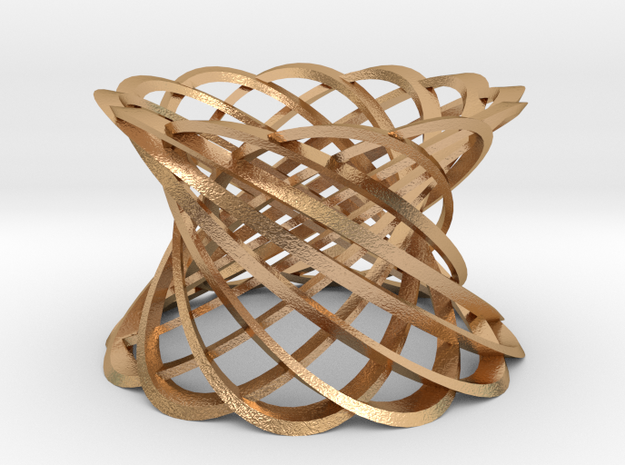 12 Twisted strips-bronze in Natural Bronze