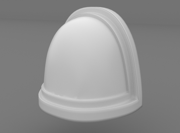 Pauldron_16 in Smooth Fine Detail Plastic