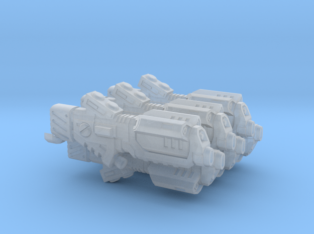 Barrage Ion Cannon in Smooth Fine Detail Plastic: d3