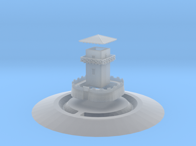 Gask Ridge Romans Limes Watchtower in Smooth Fine Detail Plastic