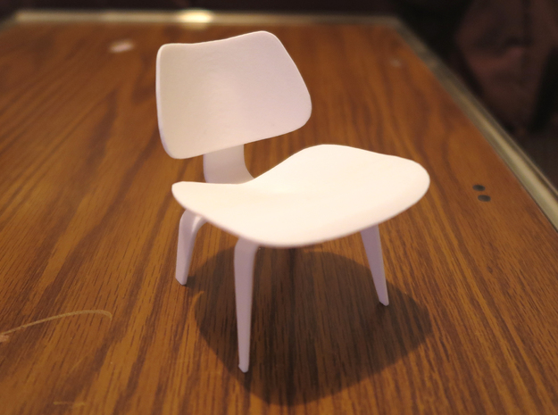 "Herman Miller Eames Molded Plywood Chair 3.1"" tall in White Processed Versatile Plastic"