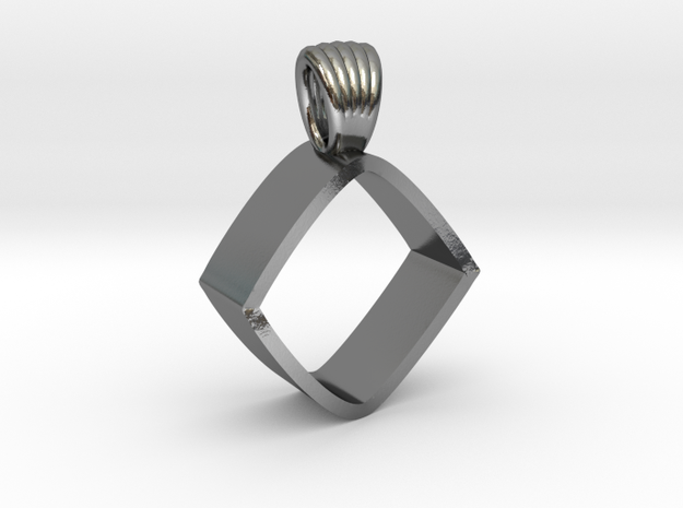 An impossible cylinder [pendant] in Polished Silver