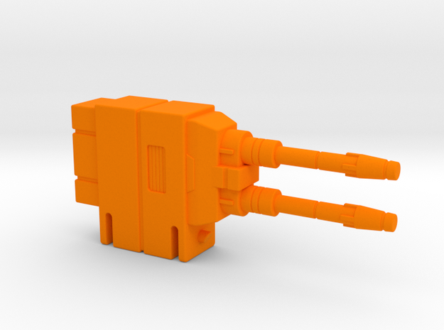 Starcom Shadow Upriser Big Cannon - Left side in Orange Processed Versatile Plastic