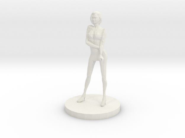 Girl Model (28mm Scale Miniature) in White Natural Versatile Plastic