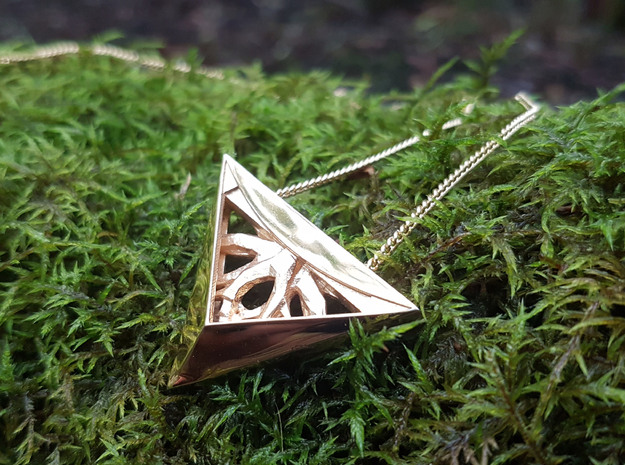 Forged Tree Pendant- Seed Collection in 18k Gold Plated Brass