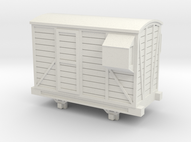 Bandai OO9 Scale Brake Van in White Natural Versatile Plastic