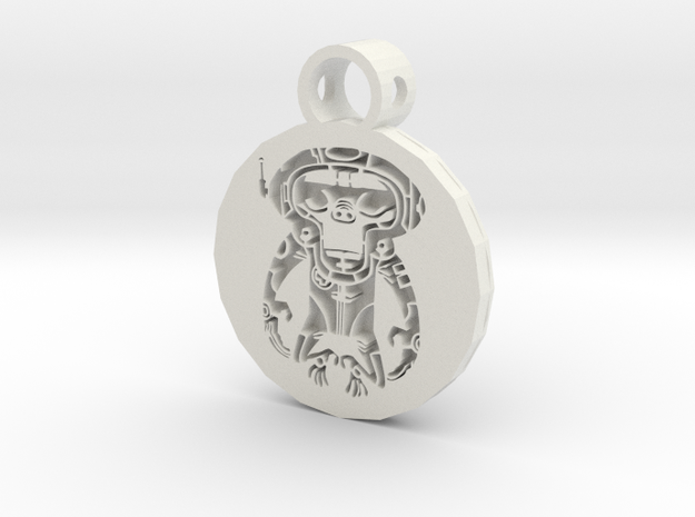 space monkey pendant in White Premium Versatile Plastic