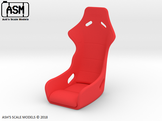 1/10 RACE SEAT in Red Processed Versatile Plastic