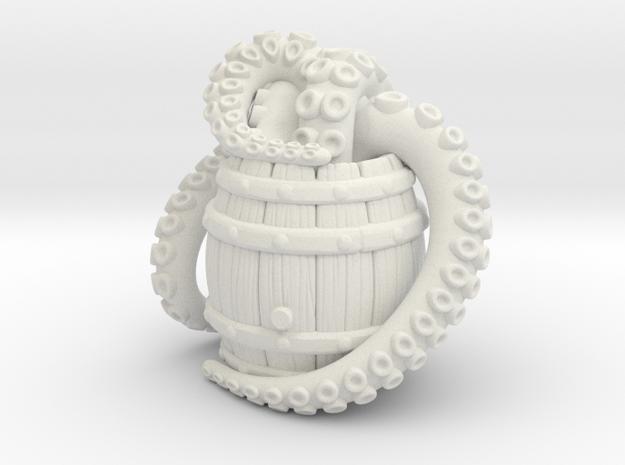 Barrel Octopus A in White Natural Versatile Plastic
