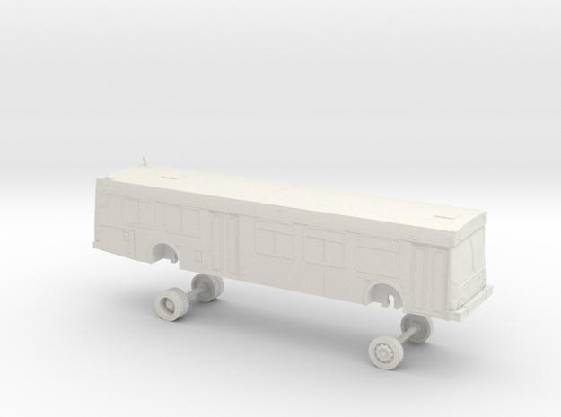 HO Scale Bus New Flyer D40LF Dayton 2300s in White Natural Versatile Plastic