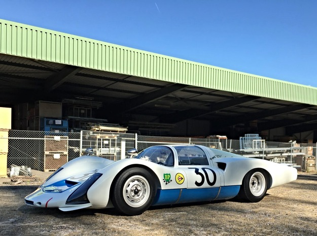 Porsche 906 Long Tail  in White Natural Versatile Plastic