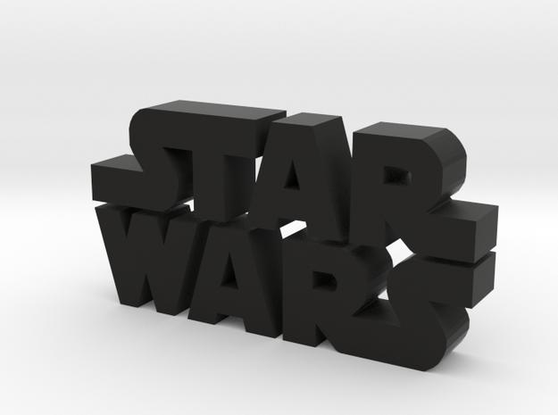 Star Wars Logo in Black Natural Versatile Plastic