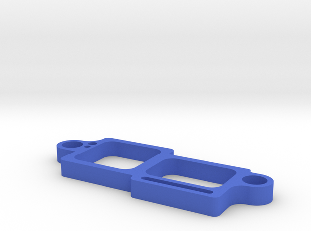 Dual Camera Mount - Front - 1/3 in Blue Processed Versatile Plastic