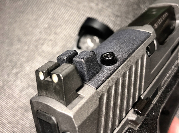 Sighted Optic Plate for SIG Romeo P320 RX  in Matte Black Steel