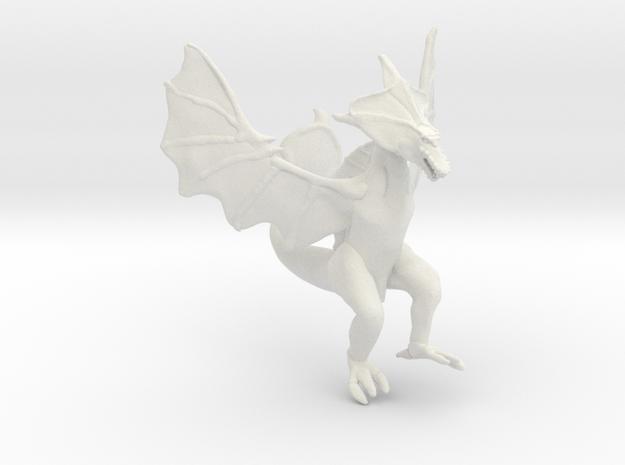 Omni Scale Space Dragon Ancient Female MGL in White Natural Versatile Plastic