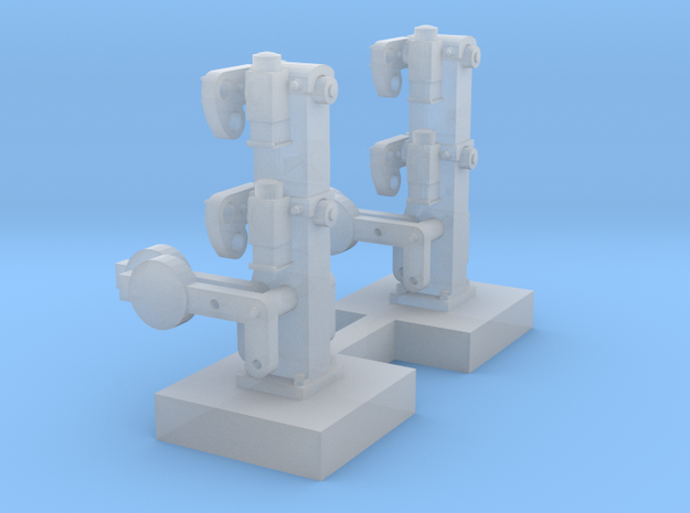 HO X 2 NSWR Dwarf Shunting Signals - Static in Smooth Fine Detail Plastic