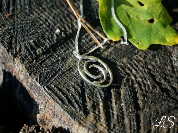 Amulet of Wisdom in Polished Silver
