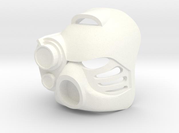 Kanohi Hau with lens in White Processed Versatile Plastic