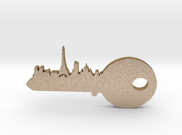 city key 3 in Polished Gold Steel