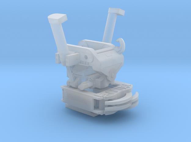 X18 Direct Fit gemonteerd met grijper niet beweegb in Smooth Fine Detail Plastic