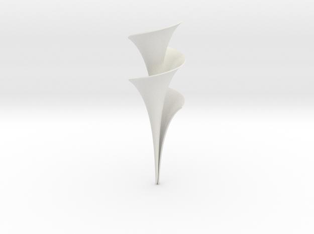 Dini Surface  in White Natural Versatile Plastic: Medium