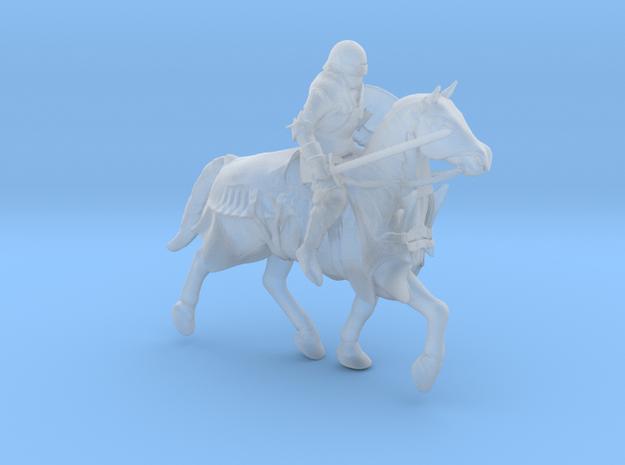 Knight Errant Horseback in Smooth Fine Detail Plastic: 1:64 - S
