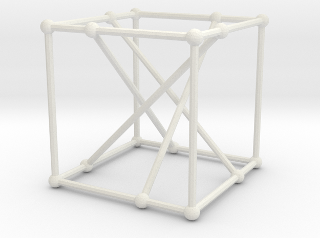 Möbius-Kantor graph in White Natural Versatile Plastic: Large