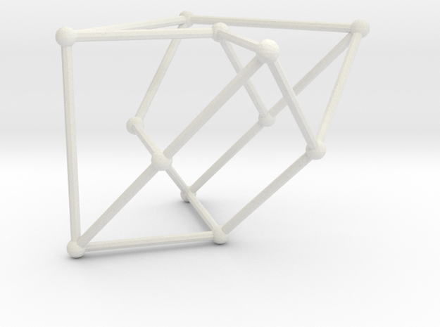 Cubic graph on 12 vertices of girth 5, no. 1 in White Natural Versatile Plastic: Large