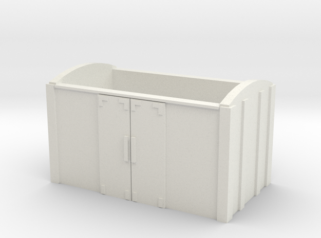 OO9 Wagon Van Body in White Natural Versatile Plastic