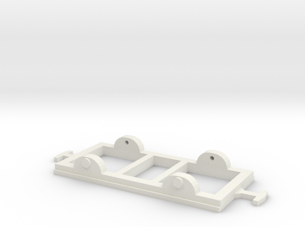 OO9 Short Chassis in White Natural Versatile Plastic