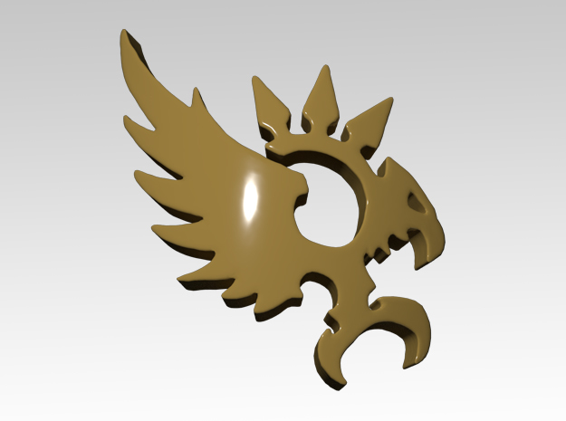 Phoenix Right Spiked Shoulder Icons x50 in Smooth Fine Detail Plastic