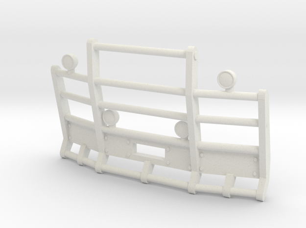 1/64th Herd or Road Train angled bumper in White Natural Versatile Plastic
