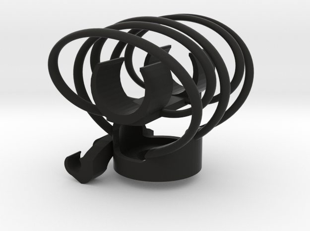 Shockmount Mic Clip 20mm in Black Natural Versatile Plastic