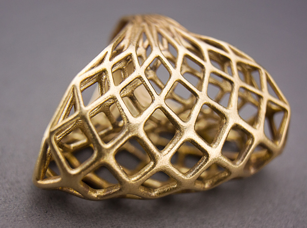 Ring 002 3d printed Raw Bronze