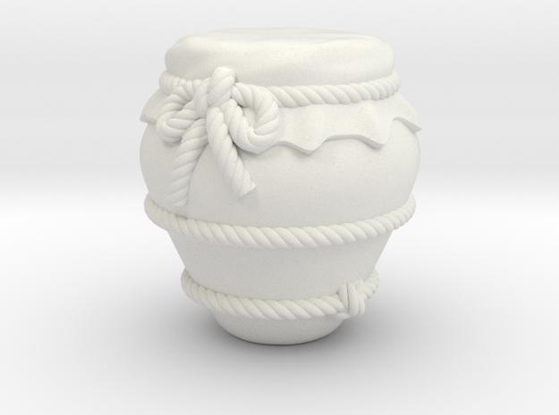 Jar C in White Natural Versatile Plastic
