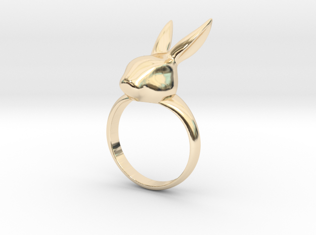 Rabbit ring in 14k Gold Plated Brass