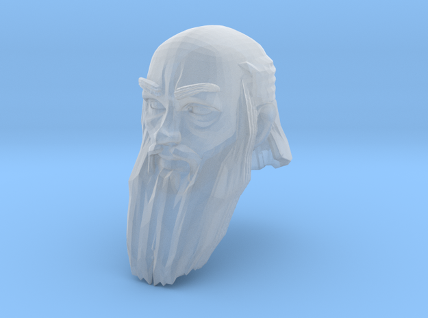 dwarf head 5 in Smooth Fine Detail Plastic
