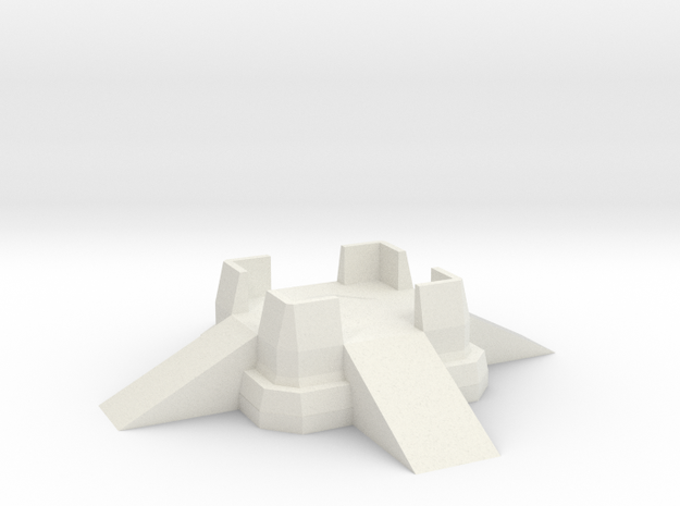 Small Fort Emplacement in White Natural Versatile Plastic