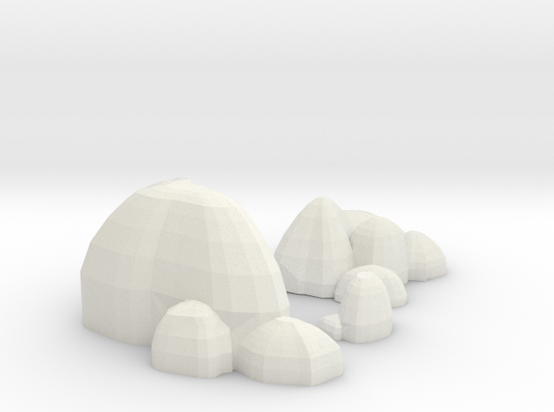 Scatter Rocks in White Natural Versatile Plastic