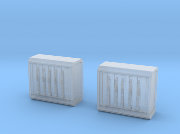 Ammo Supply Crates in Smooth Fine Detail Plastic