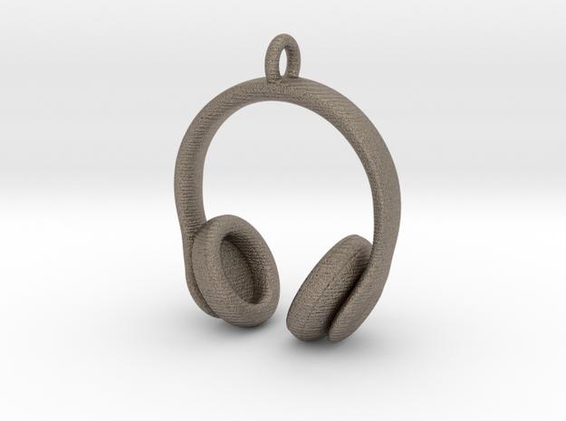 Headphones Jewel in Matte Bronzed-Silver Steel
